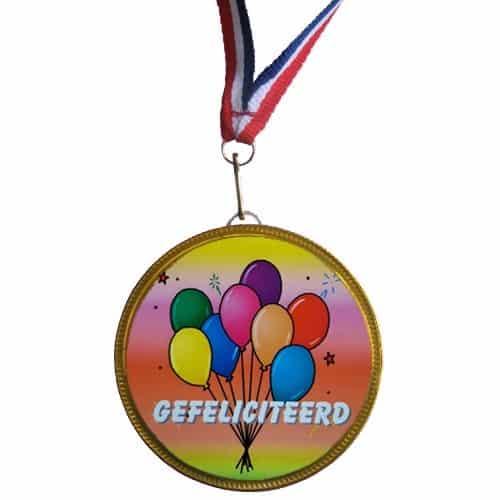 Medaille Gefeliciteerd