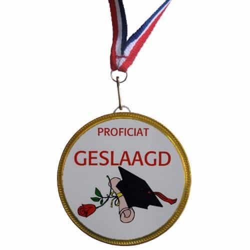 Medaille Geslaagd Roos