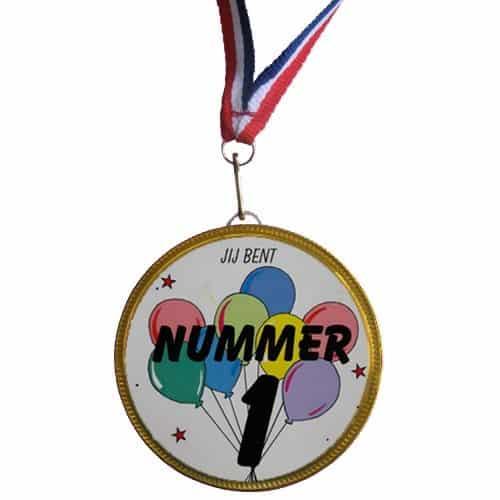 Medaille Jij bent nummer 1