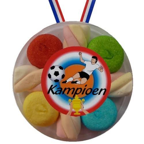 Snoepmedaille Voetbal Kampioen