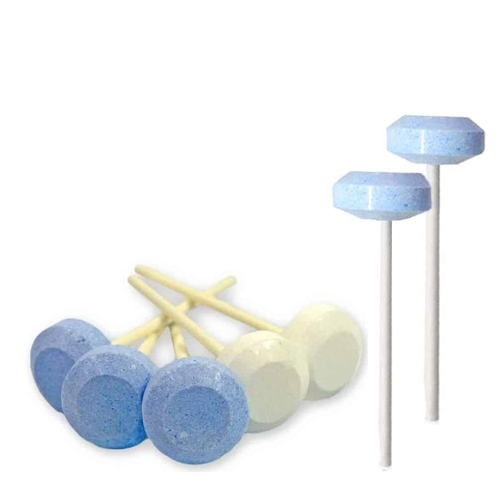 Dextrose Lollie Blauw - Wit