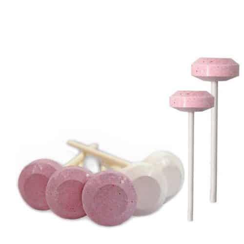 Dextrose Lollie Roze - Wit