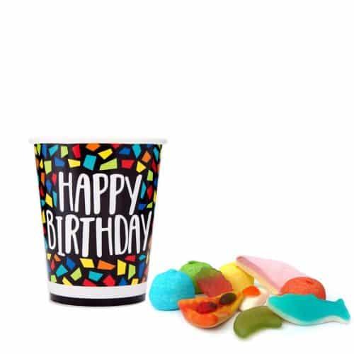 Snoepbeker Happy Birthday Mosaic